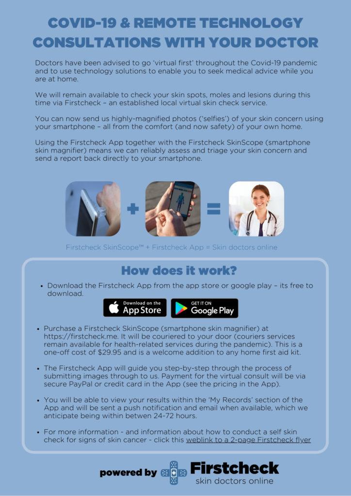 Online skin spot check consultation at Geelong Veins Skin Laser
